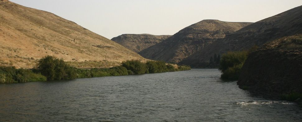The Yakima River flows through a deep, entrenched canyon between Ellensburg and Yakima, Washington<br/>-- Mark Jensen