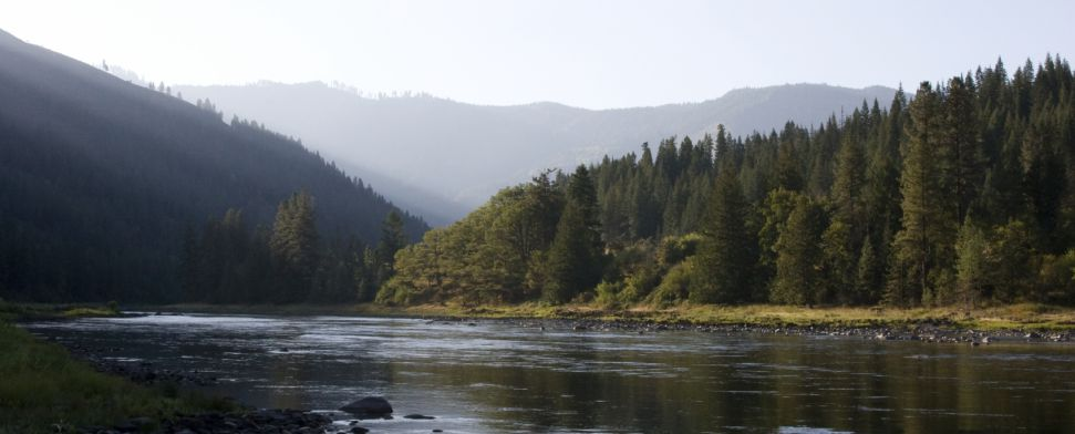 An early fall morning on the Clearwater River in Idaho<br/>-- Chris Auld
