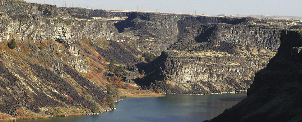Fall colors highlight a Snake River canyon in Southern Idaho<br/>-- Jeff Pierson