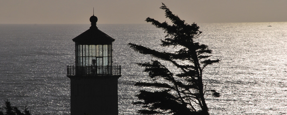 North Head Lighthouse at the mouth of the Columbia River near Ilwaco, WA<br/>-- Matt Deniston