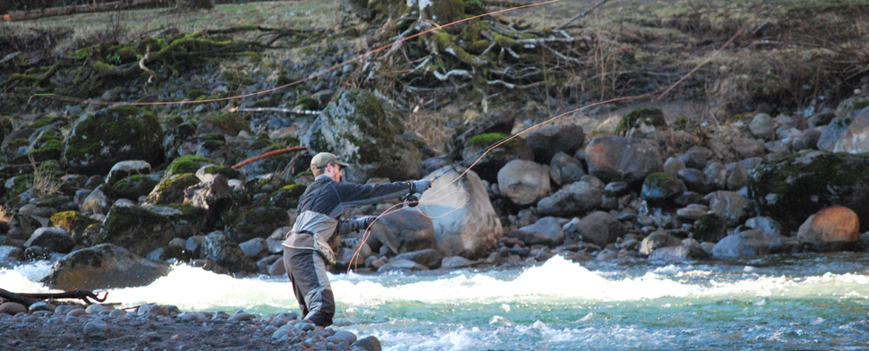 Fisherman Brian Knowles on the Sandy River in Winter<br/>-- Matt Deniston